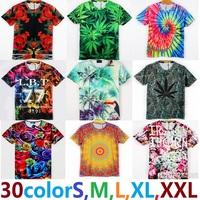 t shirt tees tops  boys t-shirt clothing tshirt2015 3D free shipping cotton men women Rose leaves the church strawberry flowers