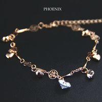 HEB055 Wholesale 14K Rose Gold Plated Zirconia Multilayer Bracelets Fashion Jewelry pulseras Mujer pulseiras femininas
