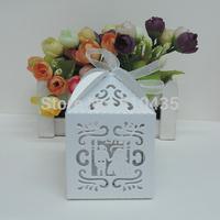 MARRY wedding favor box ,laser cut candy box,chocolate box.gift box (6*6*8.5H cm