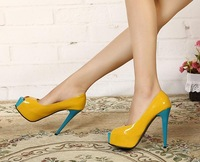 Free Shipping New Fashion Women's Shoes Candy Color Platform Euramerican Style Sexy Ultrahigh Pumps Club Noble Nightclub Heels