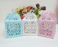 candy box,wedding favor box ,laser cut candy box,chocolate box.gift box (6*6*8.5H cm