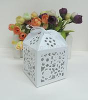 sun flower candy box ,wedding favor box,laser cut candy box,chocolate box.gift box (6*6*8.5H cm