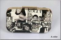Free Shipping 6 Colors New 2014 Vogue Women Bags Clutch Evening Handbags Chain Bags B0544