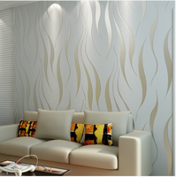 Brief striped wallpaper modern relief  non-woven wall paper roll striped bedroom mural wall papers papel de parede