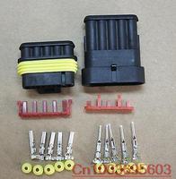 50 sets Wire Connector Plug 5 Pins Waterproof Electrical Car Motorcycle HID ATV