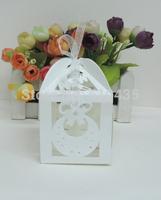 baby bib  candy box,baby shower box ,laser cut candy box,chocolate box.gift box (6*6*8.5H cm