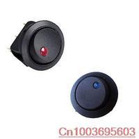 NEW 50PCS BLUE + 50PCS RED Car 12V LED Round Rocker Dot Light Toggle Switch SPST