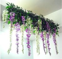 Free Shipping ,5pcs/lot,Flower vine 1 m wisteria rattan living room wedding artificial flowers Home Decoration