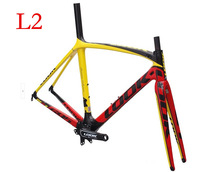 2013 LOOK 695 L2 LIGHT Carbon Road bicycle Frame with integrated carbon stem and crankset ,carbon road bike,size XS/M/L