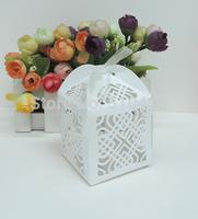 Double heart knot candy box,laser cut candy box,chocolate box.gift box (6*6*8.5H cm