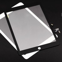 Original New White&Black  Panel Touch Screen Digitizer Glass Len Repair Parts For IPad Air with free 3m sticker