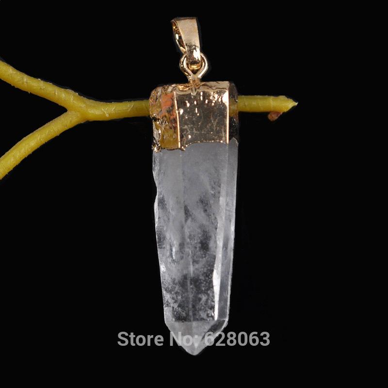 Quartz Crystal Jewelry Clear Quartz Crystal Random Shaped Stones Pendant Jewelry Free Shipping