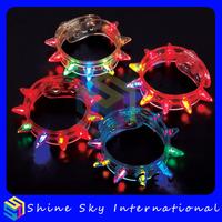Led flashing spike bracelet light up bracelet for party rave led spike bracelet 10 pcs/lot free shipping