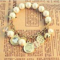 2014 Direct Selling Real Zinc Women Jewelry Bracelets Bangles Loom Bands Multi-element Stars Pendant Stretch Like Queen Bracelet