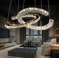 Free shipping,2014 new modern design stainless steel led crystal chandelier
