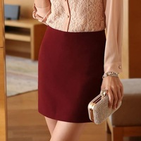 Cheap Price Fashion Zipper Elegant Women Formal Above Knee Skirt Plus Size S-3XL New Trendy Career Lady Mini Pencil Skirt
