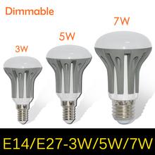 Dimmable Umbrella LED lamps bulb light E27 E14 3W 5W 7W Chandelier 2835 SMD AC 185V 220V 265V Pendant lights R39 R50 R63 10pcs(China (Mainland))