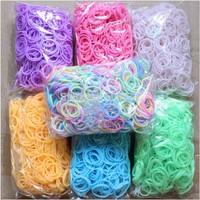 7 стиль ткацкий станок красочные резинки diy надвигающегося желе Браслеты твердых /glitter /glow / цвет металлик/флуоресценции