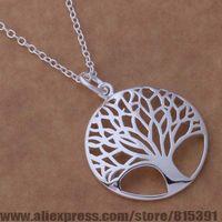 AN677 925 sterling silver Necklace 925 silver fashion jewelry pendant tree /emkandra floaocva
