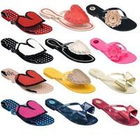 Free Shipping Wholesale 10pcs/lot  Harmonic IV Bow Flip Flops Flip-Flops Mel Jelly Shoes Women Flat Sandals