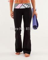 Lulu  brand new women's clothing 2014 new women's fashion stitching pattern tights / yoga pants / sweat pants,free shipping