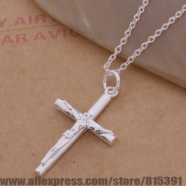 AN114 925 sterling silver Necklace 925 silver fashion jewelry pendant crucifix dqzamiga eqdanhka