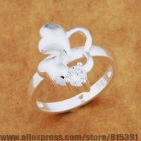 AR648 925 sterling silver ring, 925 silver fashion jewelry, three heart transparent stone /bhkajyra dxhamooa