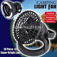 Popular Multifunctional lamp 18LED camping tent camping lantern light with fan fan tent light drop shipping!!!
