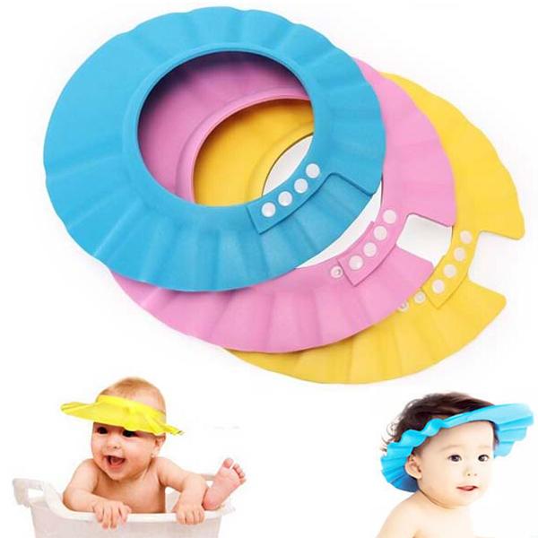 Elastic Shampoo Cap Baby Kids Washing Hair Bath Shower Protective Shield Hat