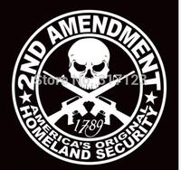 (100 pcs /lot) Wholesale 2ND AMENDMENT GUN* vinyl decal sticker Truck Diesel car hunting 4x4 car window stickers