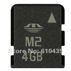 Wholesale M2 memory card 4GB full capacity MOQ 1pc Free shipping(China (Mainland))