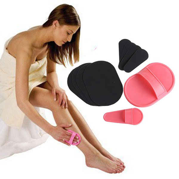 2Sets HAIR REMOVAL PADS FACE LEGS ARMS SKIN EXFOLIATOR EPILATOR Wholesale & Retail! + Free Shipping(China (Mainland))