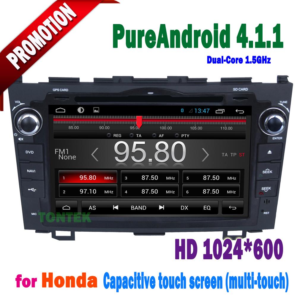 """8"""" pure, android. 4.1.1 lecteur dvd de voiture pour honda crv 2006-2012 navigation gps wifi bluetooth radio 3g ts8048p écran capacitif"""
