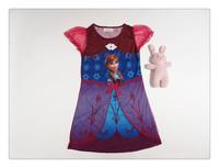 2014 Hot Sale Rushed Pattern Frozen Wholesale Baby Girls /kids Dresses . Snow Princess Dress Children's Clothing 5pcs/lot A10083