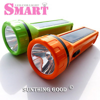 Free ship Smart portable solar powered torch flashlight outdoor for camping travel