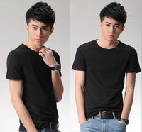 3 Colors 2014 men's summer O-neck male short-sleeve T-shirt cotton slim shirt Plus Size Y0234