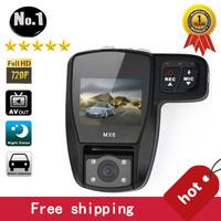 [NO LOGO ] Wholesale  mx6 car dvr Camera recorder , super wide-angle, hd 1920*720p , night vision ,SINGLE Lens,free shipping