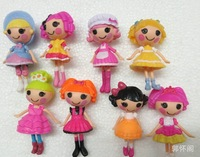 2014 New MGA mini 8CM Lalaloopsy Doll with Articulated Head, Arms & Legs girls classic toys Brinquedos wholesale 48pcs/lot