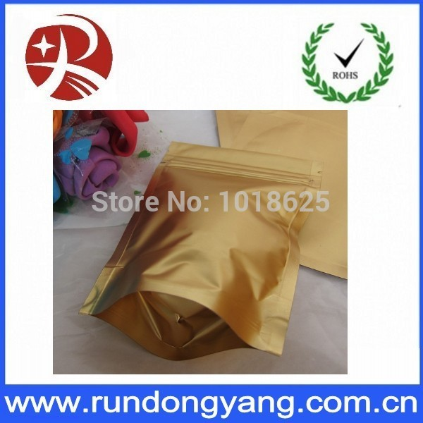 22*29+4CM coffee packing Gold foil Stand up Zip Lock Reclosable Bag(China (Mainland))