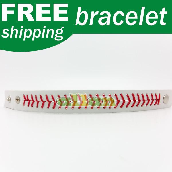 2014 wholesale Softball bracelets leather seam bracelet(China (Mainland))