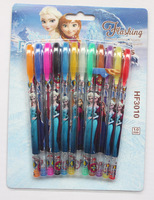 lot new 10 Box 120 Pcs gift Princess Elsa/Anna Blink Glitter Fruits Scent Pen super fruits scent cartoon blink pen pen12 Color
