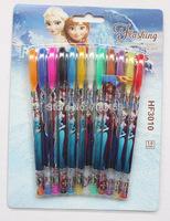 lot new 10 Box 120 Pcs Frozen Princess Elsa/Anna Blink Glitter Fruits Scent Pen super fruits scent cartoon blink pen pen12 Color
