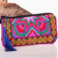new national embroidery embroidered bags stitch ethnic Coin purse women's handmade small cloth handbag