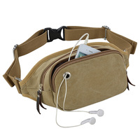 Waist pack chest pack multifunctional sports casual mobile phone bag waist pack large canvas messenger bag the trend retail