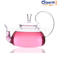 High temperature glass tea pot can not afford to cover the pot / flower pot practical classic 600ML