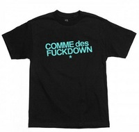 hot sell Free shipping THE CUT - COMME DES FUCKDOWN fashion t shirt men's hip hop clothing