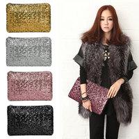 2014 New Dazzling Glitter Sparkling Bling Sequins Evening Party purse Bag Handbag Women Clutch wallet