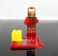 2Pcs Super Hero Figures Iron man Toys Classic Toys Figures DIY Building Blocks Sets Toys Self-locking Bricks Boy's Gift