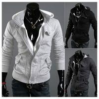 FREE SHIPPING Fashion Men Casual Slim Fit Zip Up Designed Coat Jacket Sweater Cardigan Hoodie