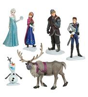 2014 New Brand Frozen Play Set of 6 Doll Anna Elsa Hans Kristoff Sven Olaf Toys/Designer Fashion Dolls Gift For Kids